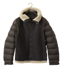 SHEARLING HOODED LINER -BRW-