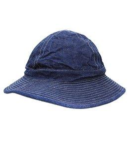 US NAVY HAT -DENIM/WHITE ST-
