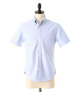 VINTAGE BUTTON DOWN SHORT SLEEVE SHIRTS (Blue Oxford)