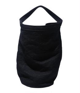 BUCKET TOTE NO.1 -linen wash black-