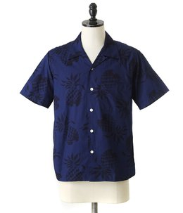 "S/S COTTON OPEN SHIRT NOBO-TONE ""DUKE'S PINEAPPLE"""