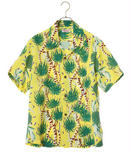 "HAWAIIAN SHIRT ""SCREW PINE BORDER"""