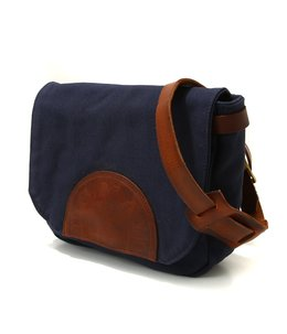 CANVAS×LEATHER POSTMAN MINI SHOULDER BAG