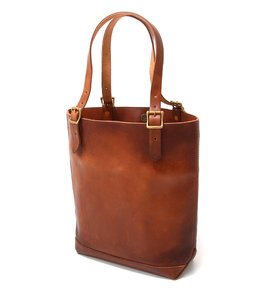LEATHER TRAVEL TOTE BAG - HEIGHT -