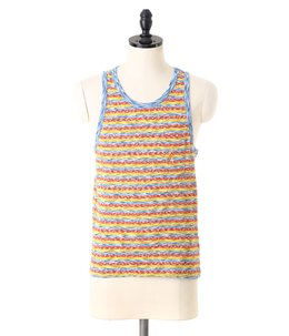 Mirror Tricolor Stripe Pocket Tank