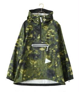 printed fry rain anorak hoodie