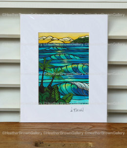 Art Print 11×14 「Sunset Swell」