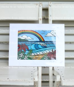 Art Print 11×14 「North Shore Rainbow」