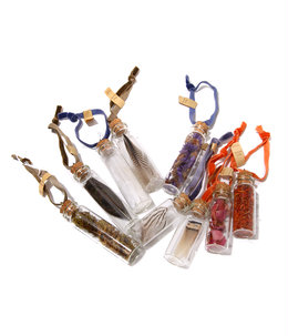 Apothecary Bottle Ornaments S/9