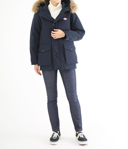 【レディース】<P/C TUSSAH (タッサー)>-DOWN JACKET-NAVY-