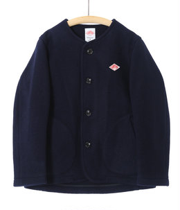 【レディース】<WOOL MOSSER (ウールモッサ)>-NO COLLAR JACKET-