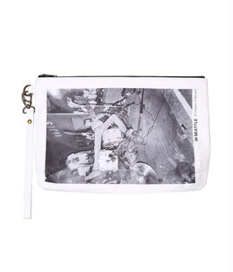 Photo Paper Strap Clutch Bag