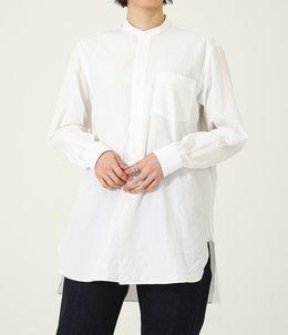 【レディース】バンドカラーシャツ