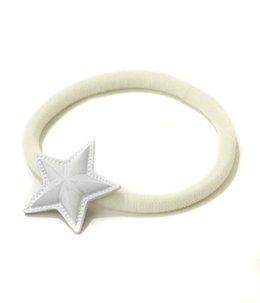 スターコンチョ(ホワイト) ヘアゴム - SMALL -