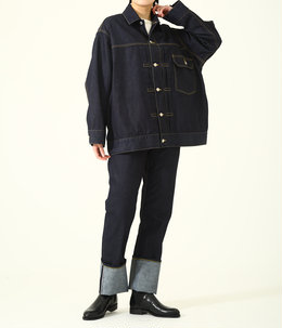 【レディース】selvage denim big blouson