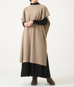 【レディース】shaggy cashmere cape shawl