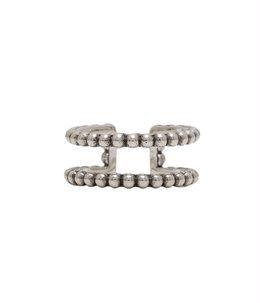 【レディース】Abott ring(brass silver color)-BG1800-