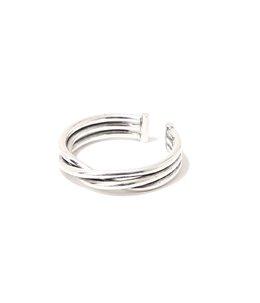 【レディース】Alicia twisted ring pm(brass silver color)