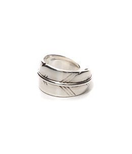 【レディース】crossed Wyllow ring(brass XL silver color)