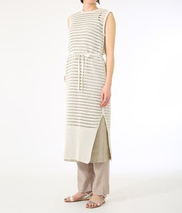 【レディース】WATERMARK COTTON SILK SLEEVELESS ONEPIECE-IVORY-