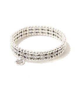 【レディース】Meryl strass bracelet(silver color)