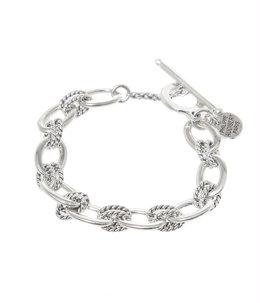 【レディース】kara bracelet(brass silver color)