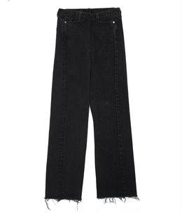 【レディース】【別注】circa make cut off rotated 90° denim pants(length 105) -28inch-