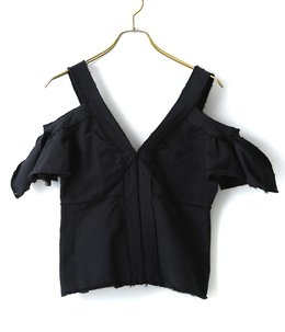 【レディース】Open Shoulder Cut Off Blouse