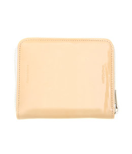 square zip purse -patent natural-