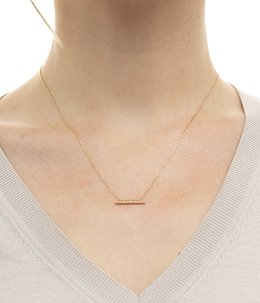 Gossamer Diamond Short Bar Necklace(ネックレス)