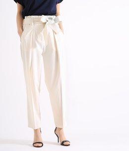 【レディース】paperbag belted waist trousers with tie