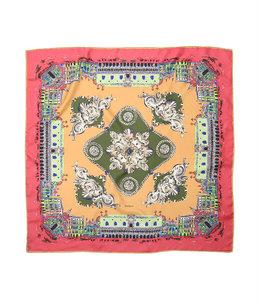 <Silk scarf(88cm×88cm)>-CITY-