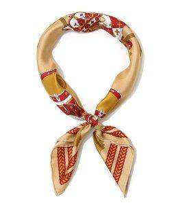 <Silk scarf(65cm×65cm)>-drum-