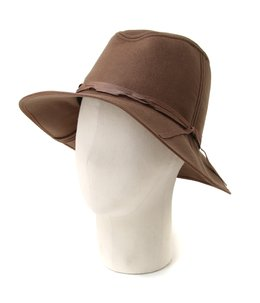 【レディース】Felt narrow ribbon Hat-KHAKI-