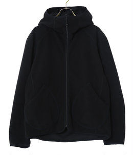 reversible hoodie fleece jacket