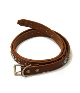Turquoise Narrow Studs Belt
