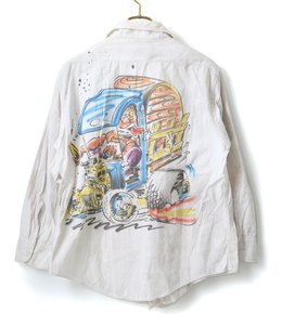 【USED】Vintage Air Brush paint white shirts