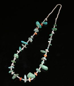 NAVAJO TURQUOISE SPINEY OYSTER NECKLACE