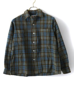 【USED】60's BRENT CHECK BOX SHIRTS