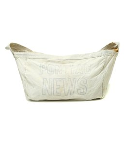 【USED】VINTAGE W CANVAS NEWSPAPER BAG PONTIAC