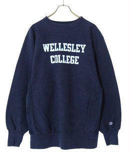 【USED】90's Champion WELLESLEY SW