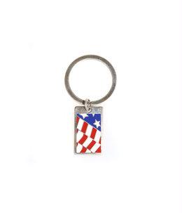 VINTAGE TIFFANY USA FLAG KEY RING