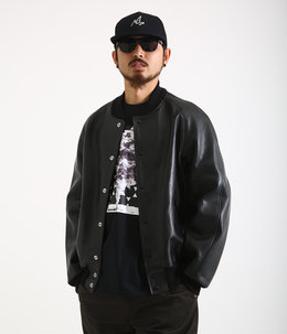 LEATHER RIB JKT