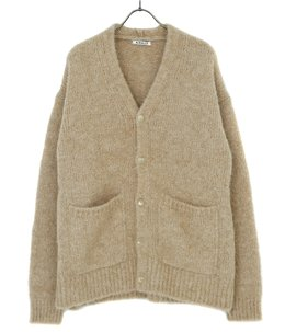 ALPACA WOOL SUPER LIGHT KNIT BIG CARDIGAN