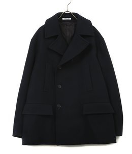 SUPER FINE MELTON HALF COAT