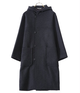 【レディース】LIGHT MELTON HOODED COAT