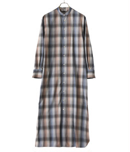 【レディース】SUPER LIGHT WOOL CHECK MAXI ONE-PIECE