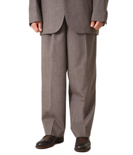 BLUEFACED WOOL WIDE SLACKS