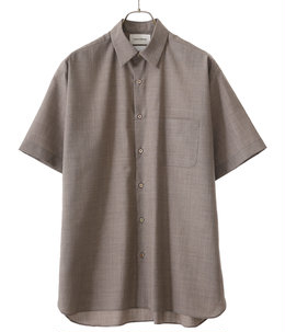 COMFORT FIT SHIRT S/S -SUPER 120's WOOL TOROPICAL-