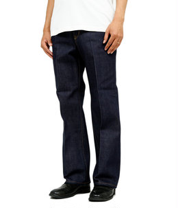 CREASED 5POCKETS DENIM PANTS -14.5oz ORGANIC SELVEDGE DENIM-